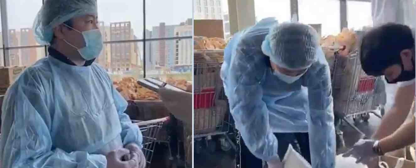 Тұрсынбек Қабатов карантин кезінде қайырымдылық жасауды қолға алды (видео)